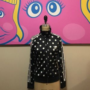 Adidas Black White Polka Dot Jacket